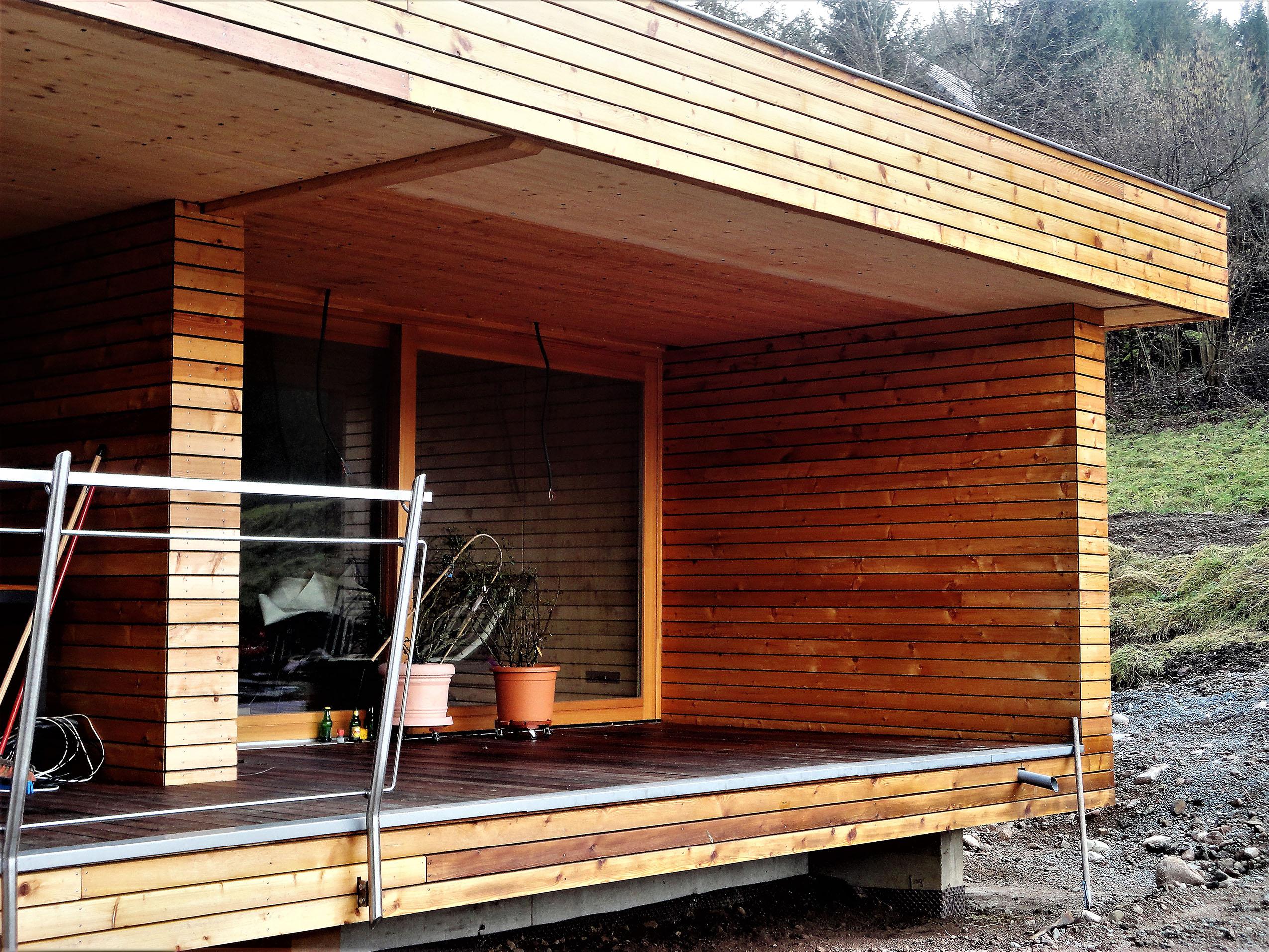 Extension bois et un espace salon s jour en plus for A plus salon normal il