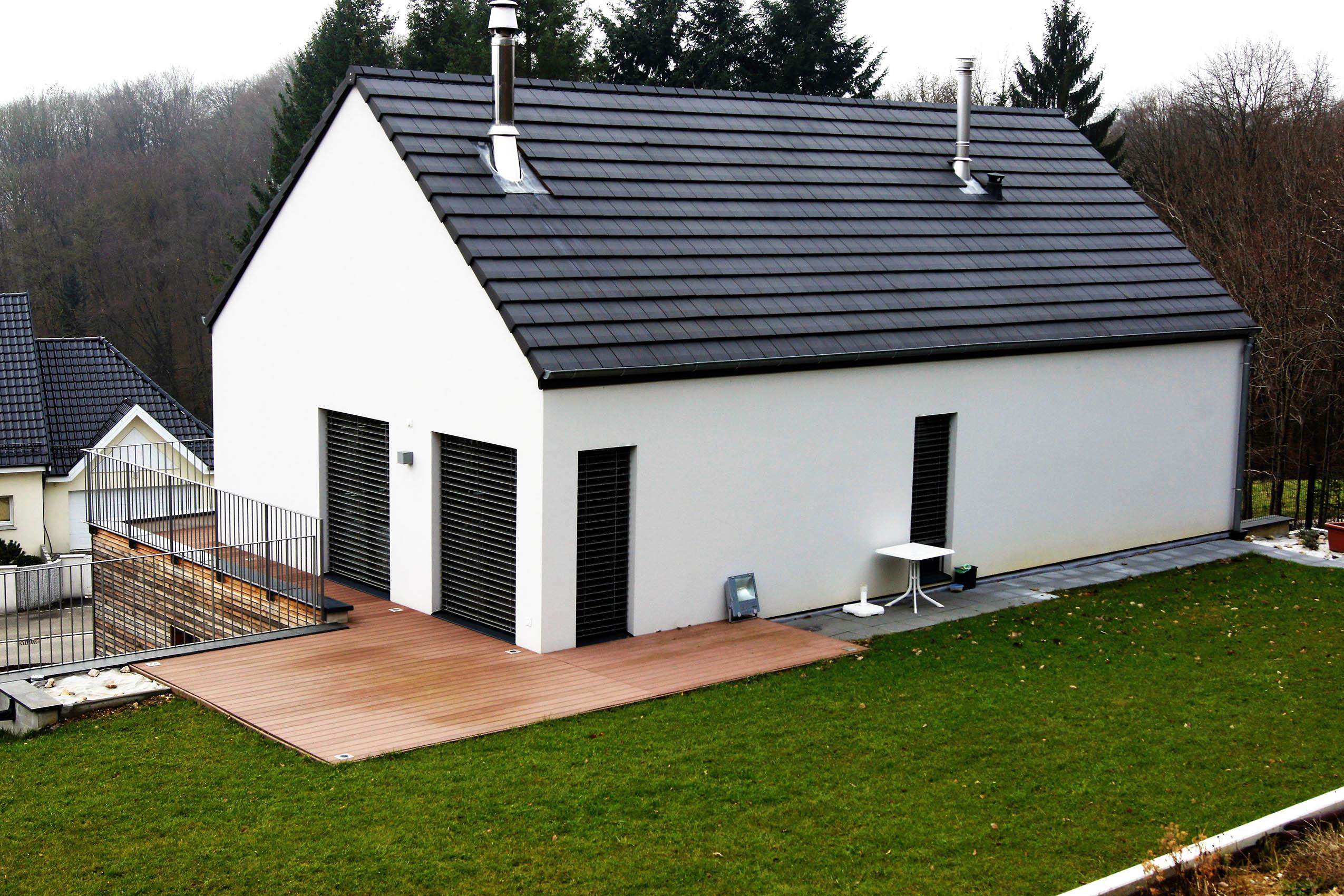 Construction dune maison bois à Hirsingue en Alsace