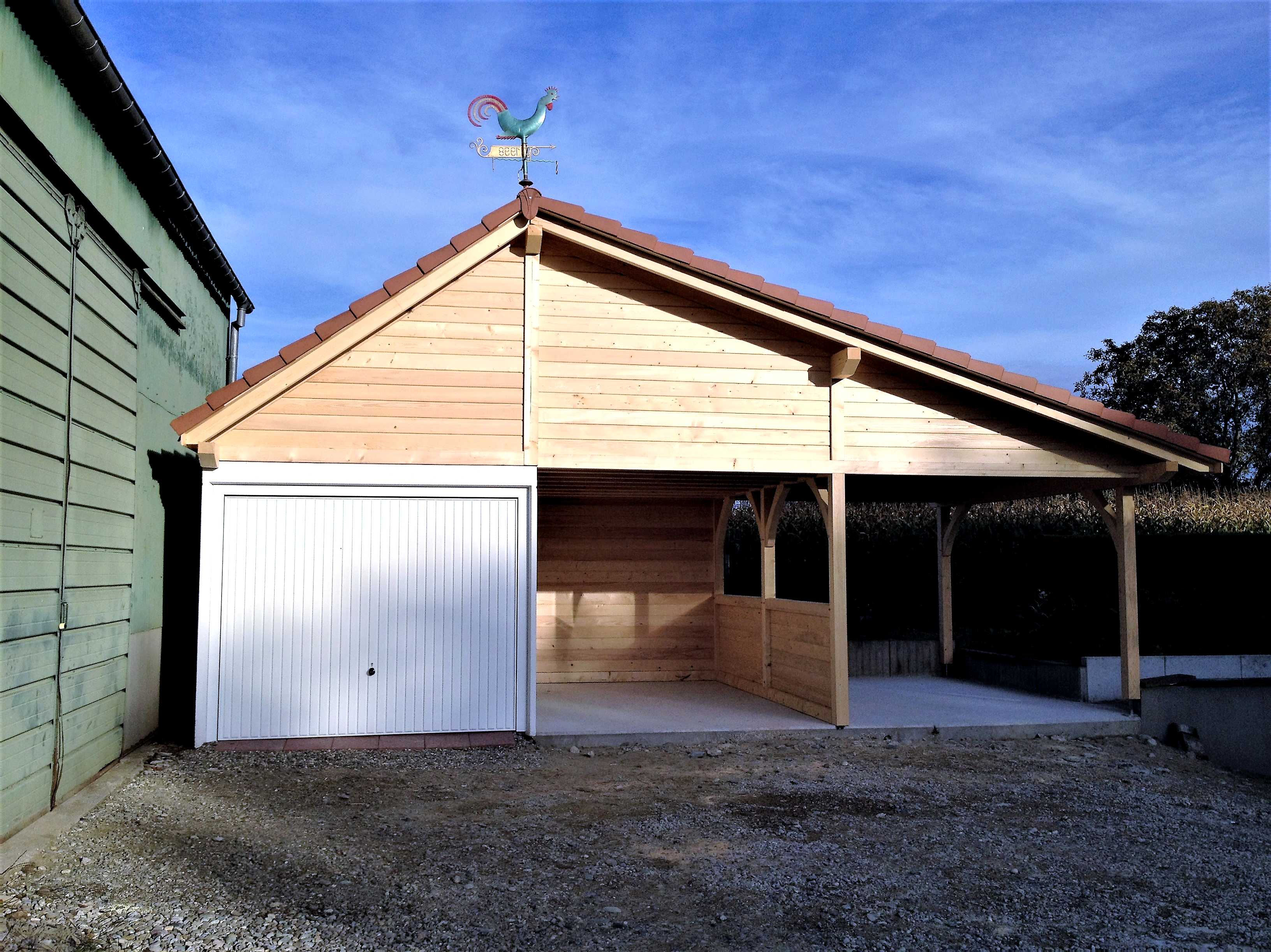 Fabricant de garages en bois et de carport en alsace for Carport ou garage