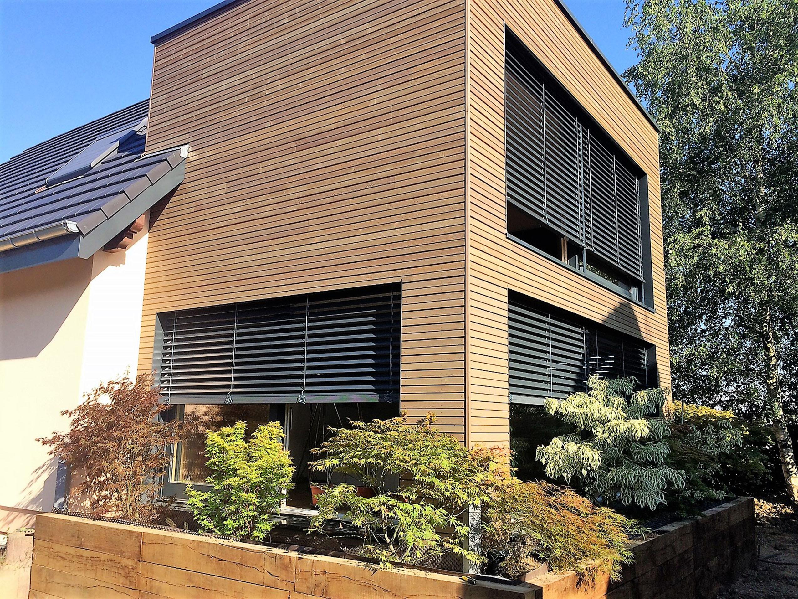 Un extension bois sur 2 niveaux bruebach maisons bois lutz for Extension bois 2 niveaux