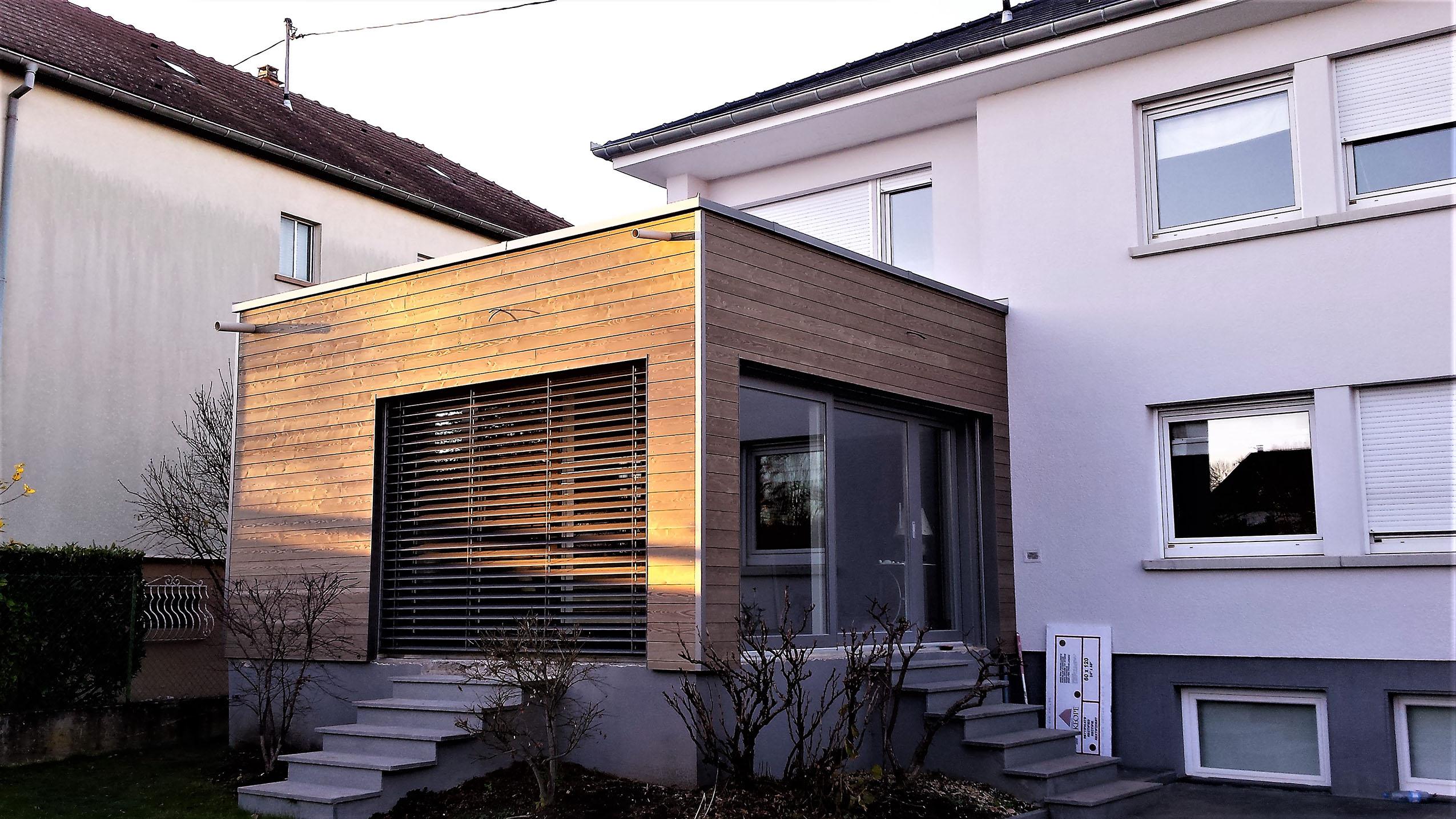 agrandissement en bois dune maison 224 brunstatt maisons
