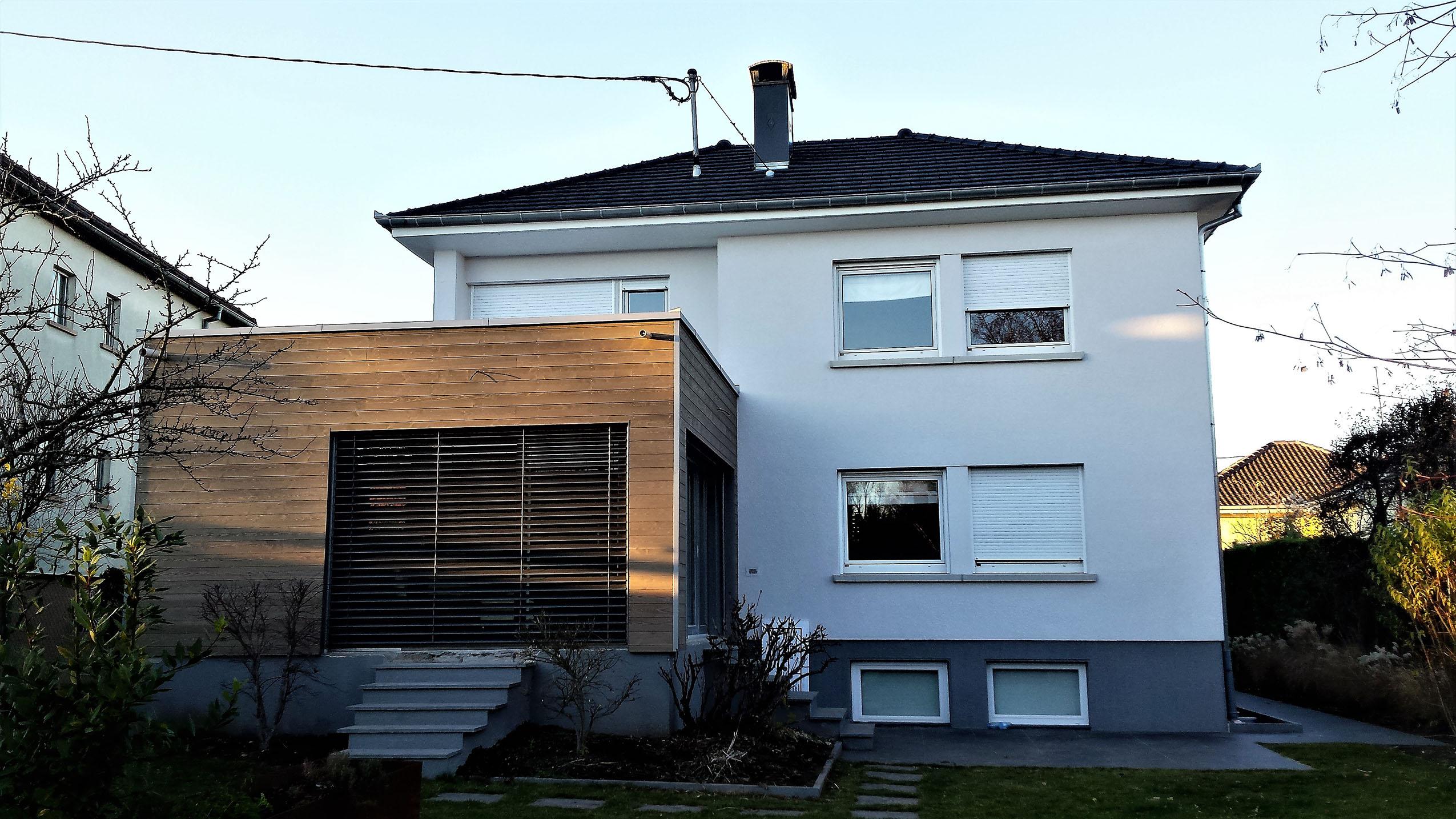 agrandissement en bois d 39 une maison brunstatt maisons