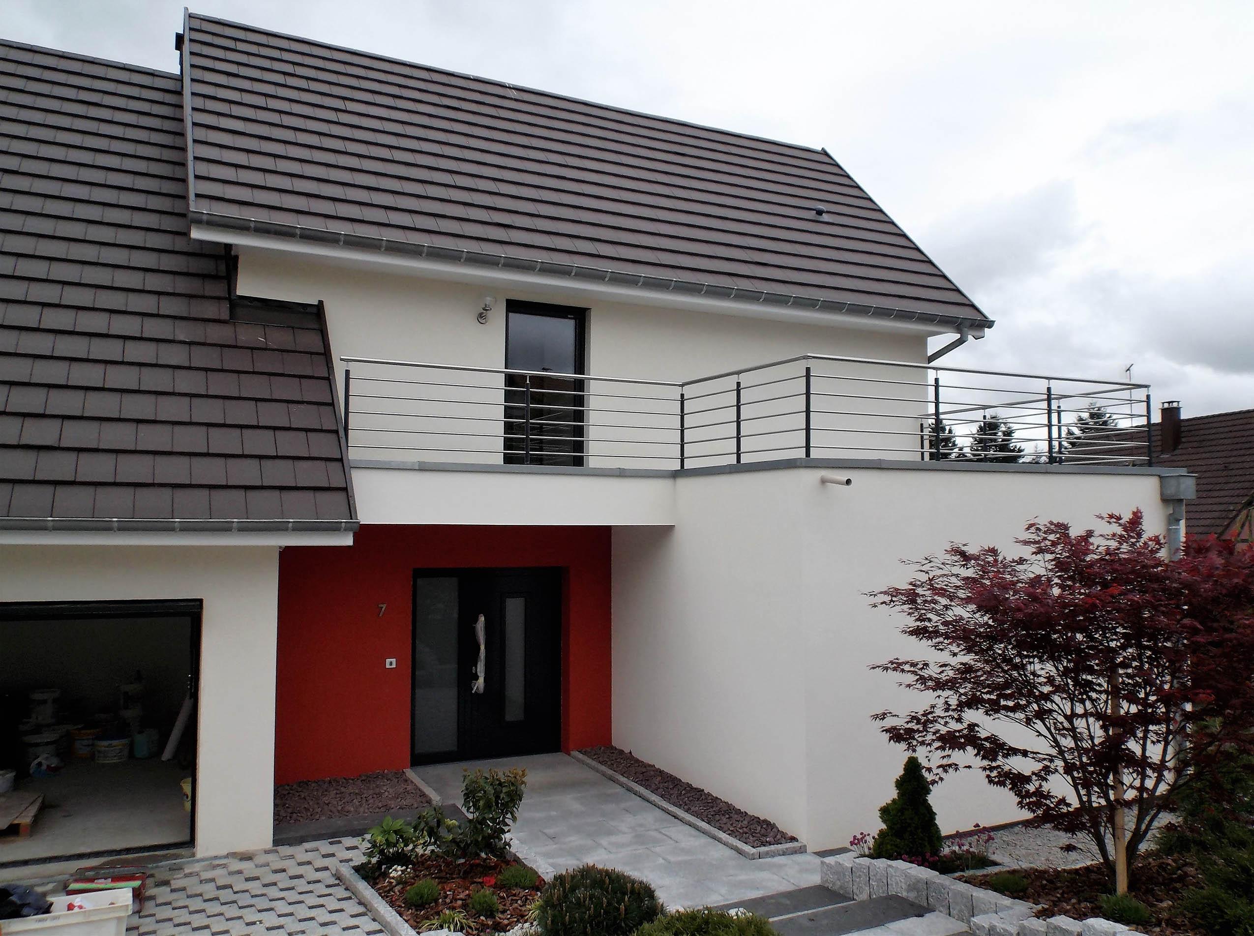 Construction d 39 une maison ossature bois classique leymen for Ossature bois alsace