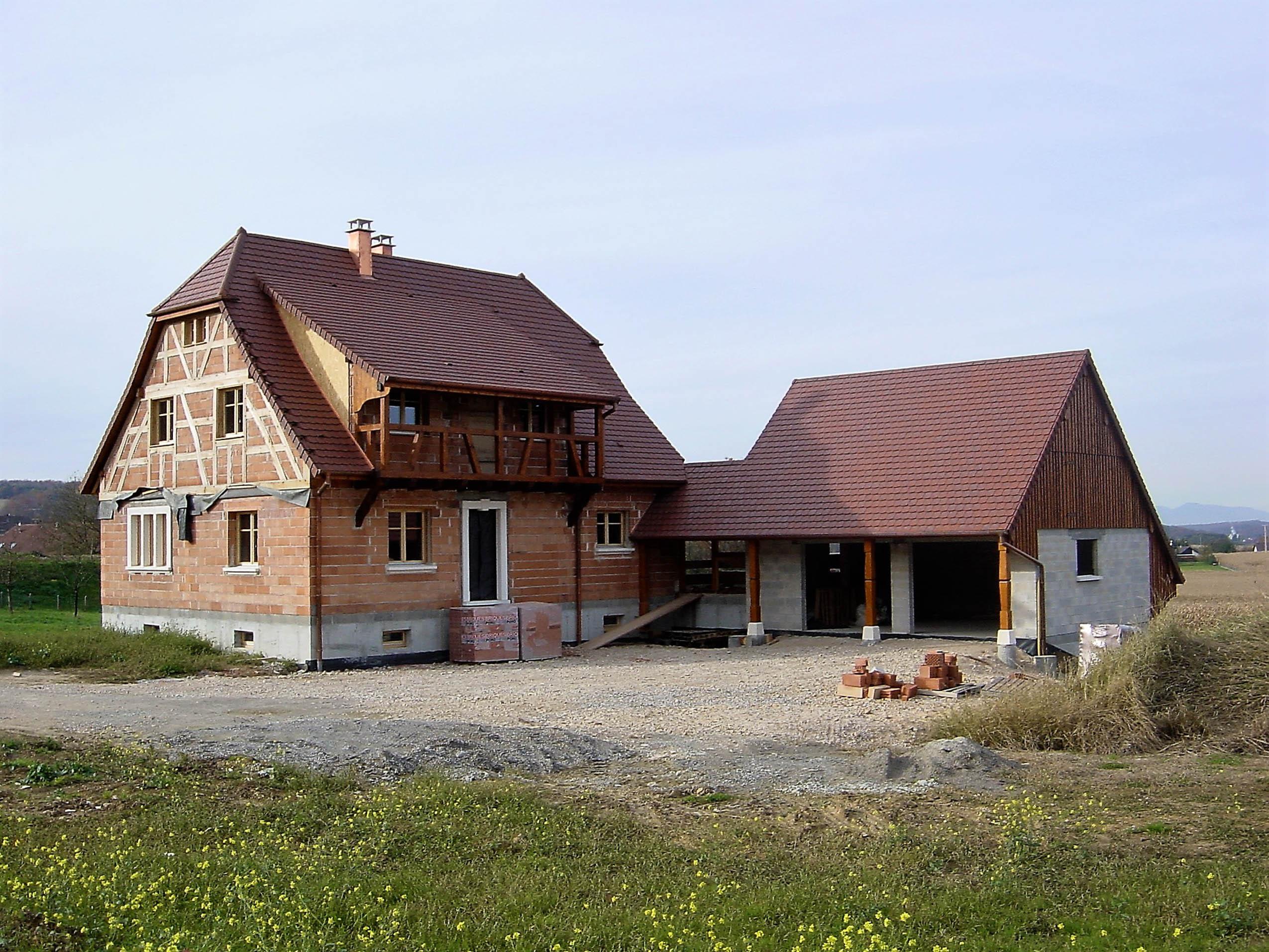 Construction de maisons colombages en alsace maisons for Architecture maison