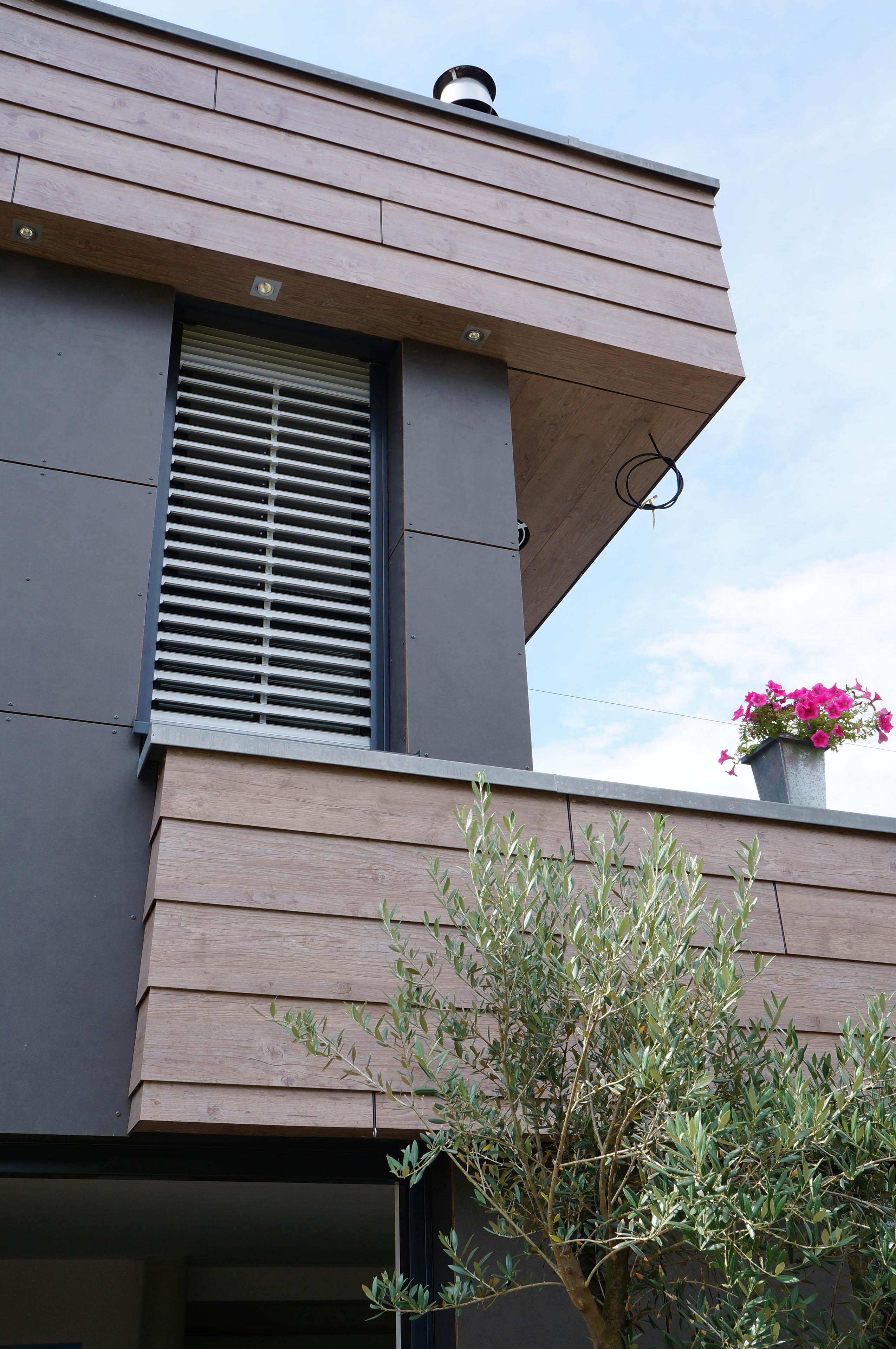 extension contemporaine en bois d 39 une maison bruebach maisons bois lutz. Black Bedroom Furniture Sets. Home Design Ideas