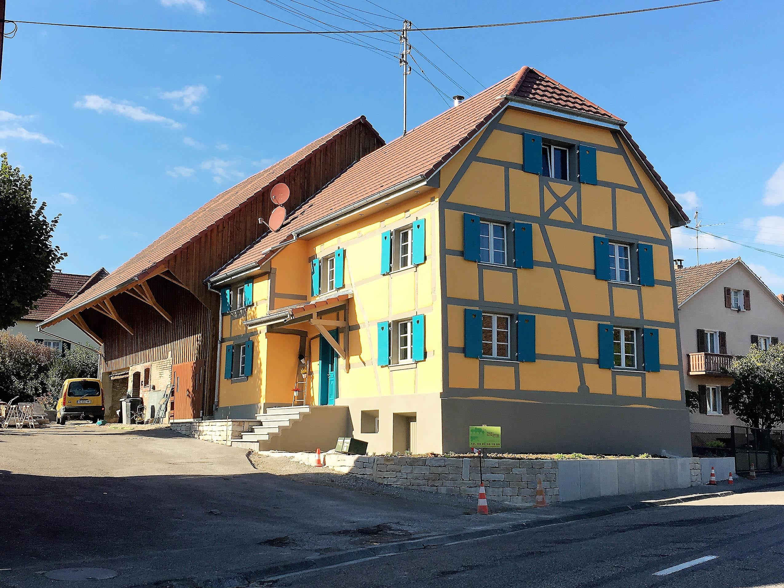 Renovation d'une maison à Hagenthal-le-Bas