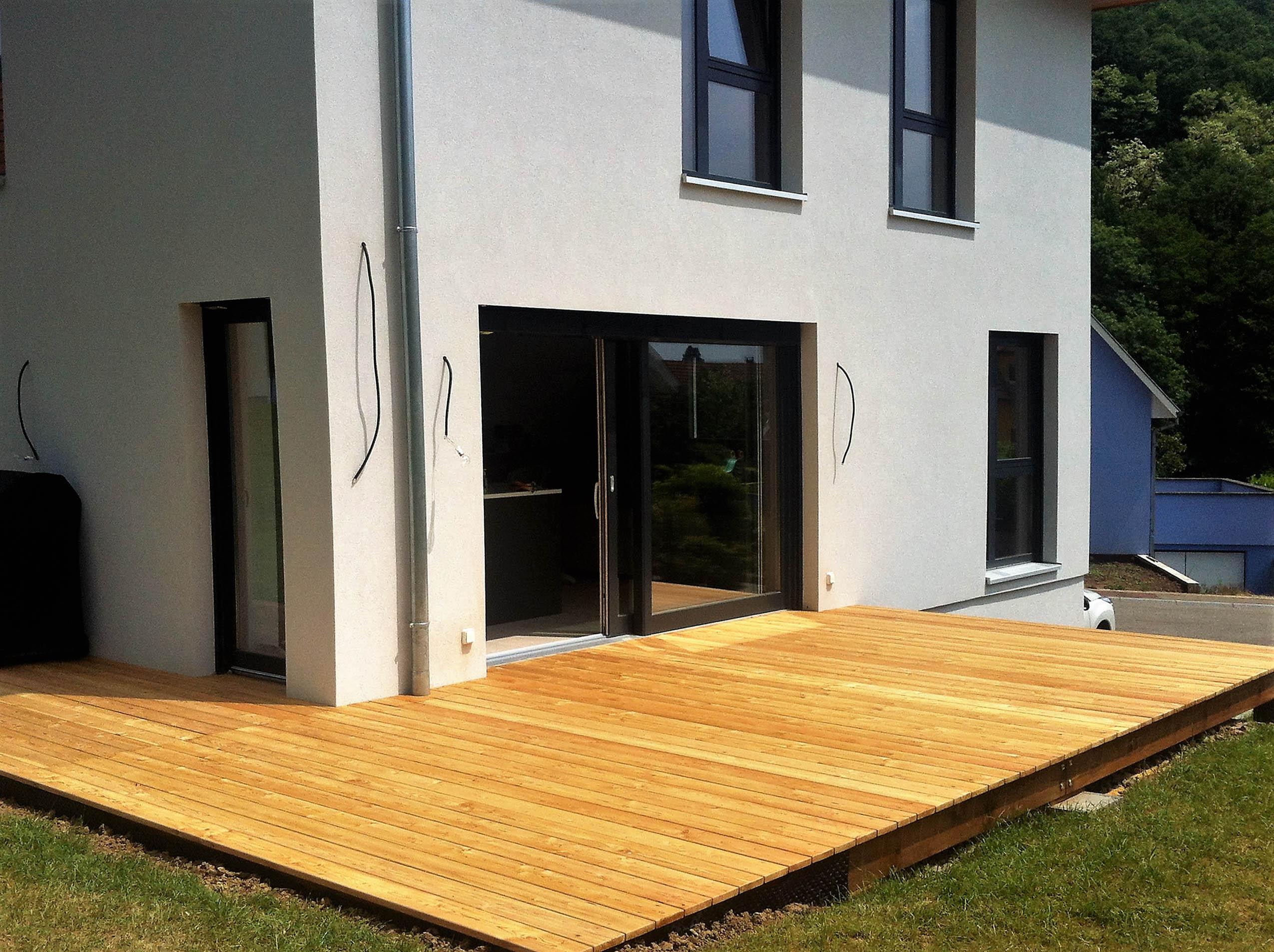 Création d'un plancher terrasse à Jungholtz
