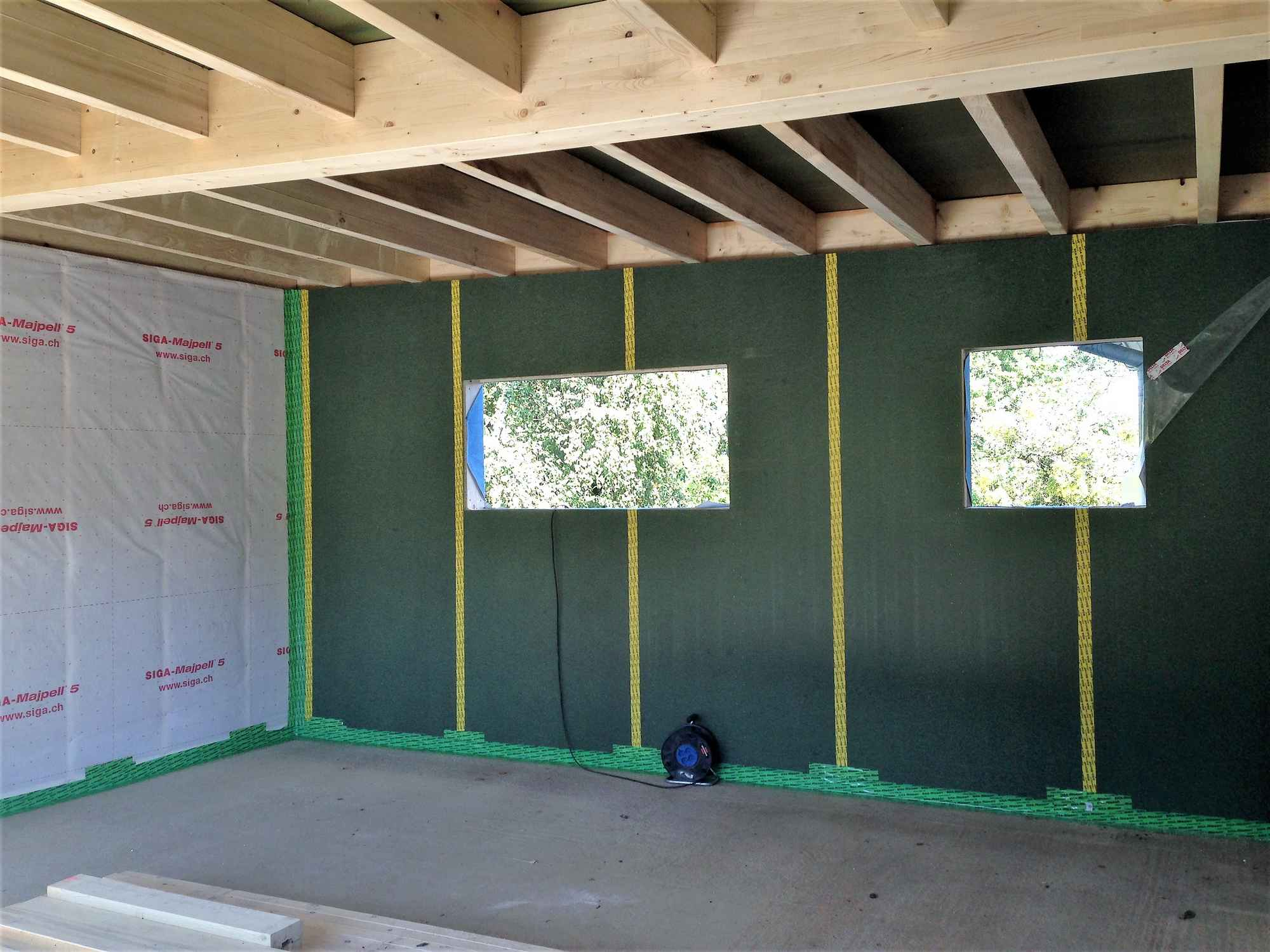 agrandissement en ossature bois dune maison 224 hirsingue