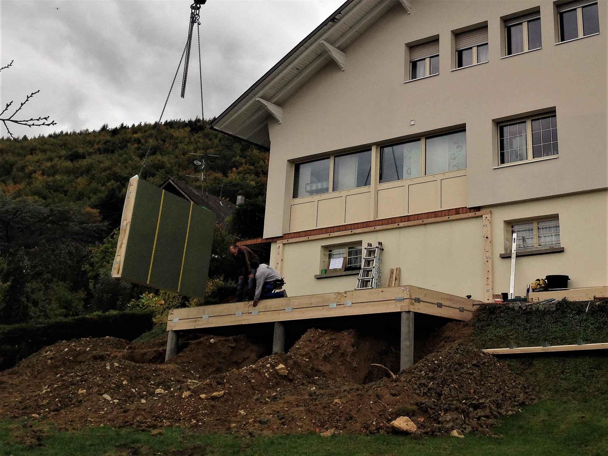 agrandissement en ossature bois dune maison 224 ferrette