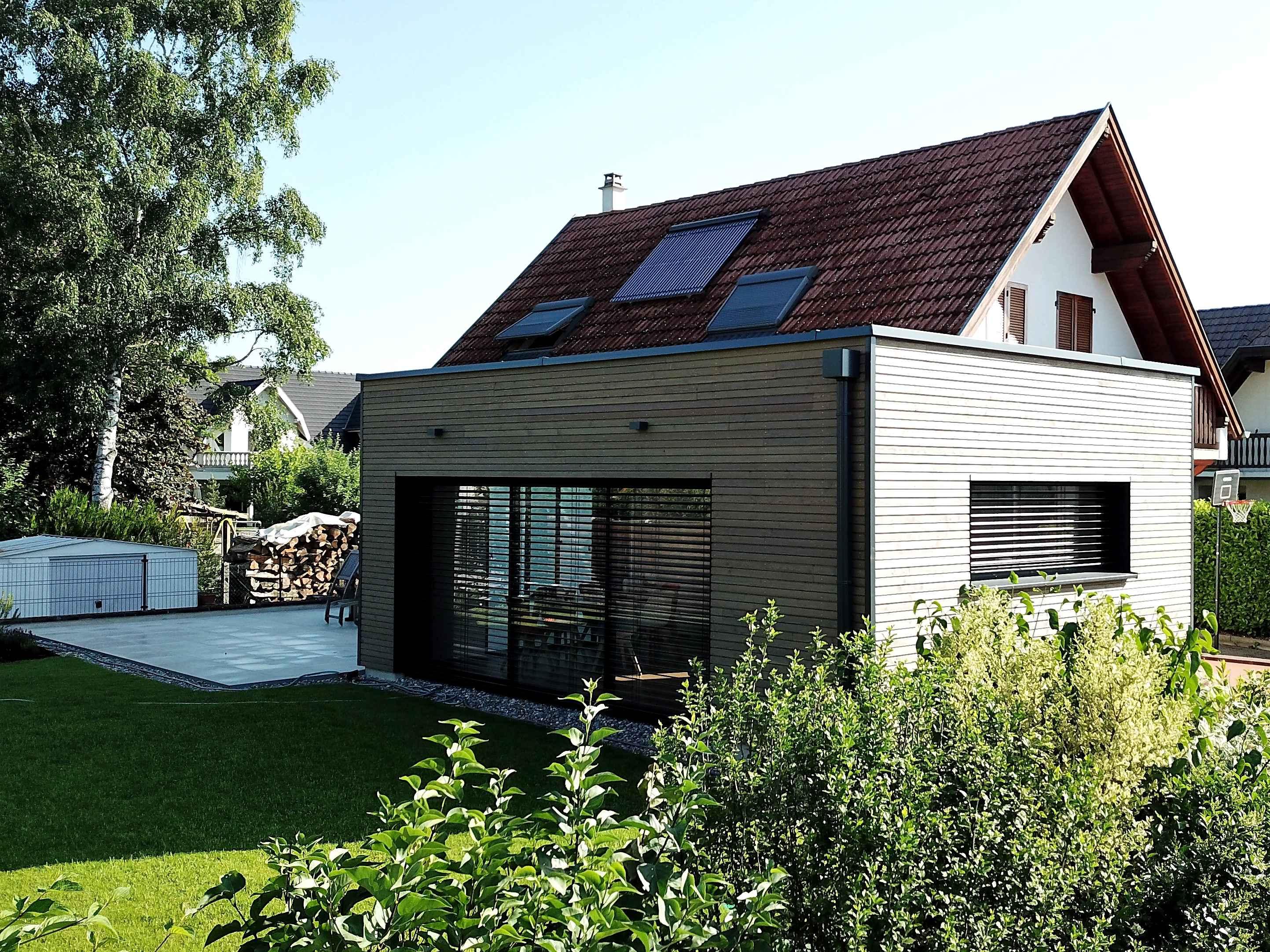 Agrandissement d'une maison à Bartenheim   Maisons bois LUTZ